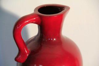 vaso in terracotta rosso