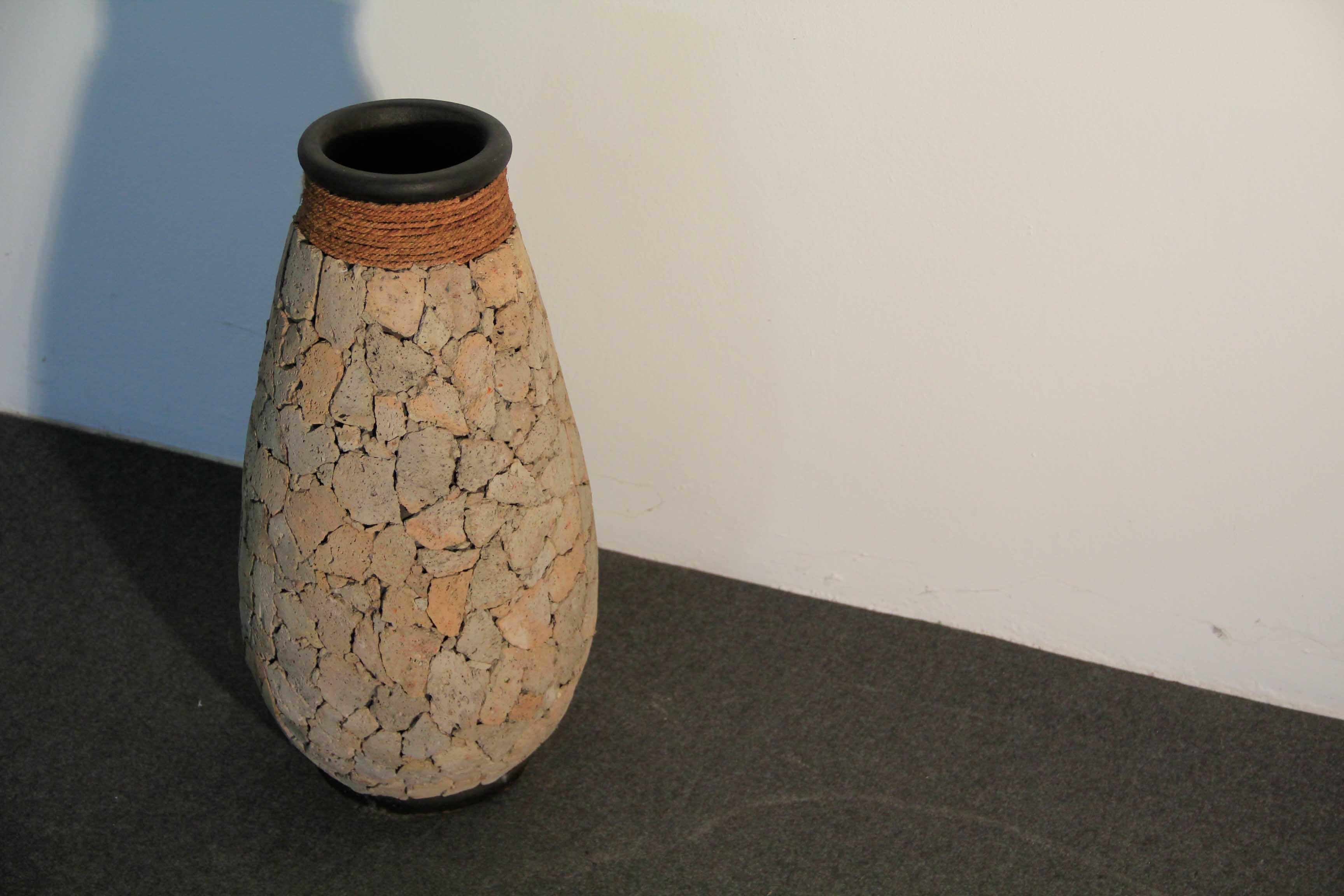 vaso in terracotta rivestito