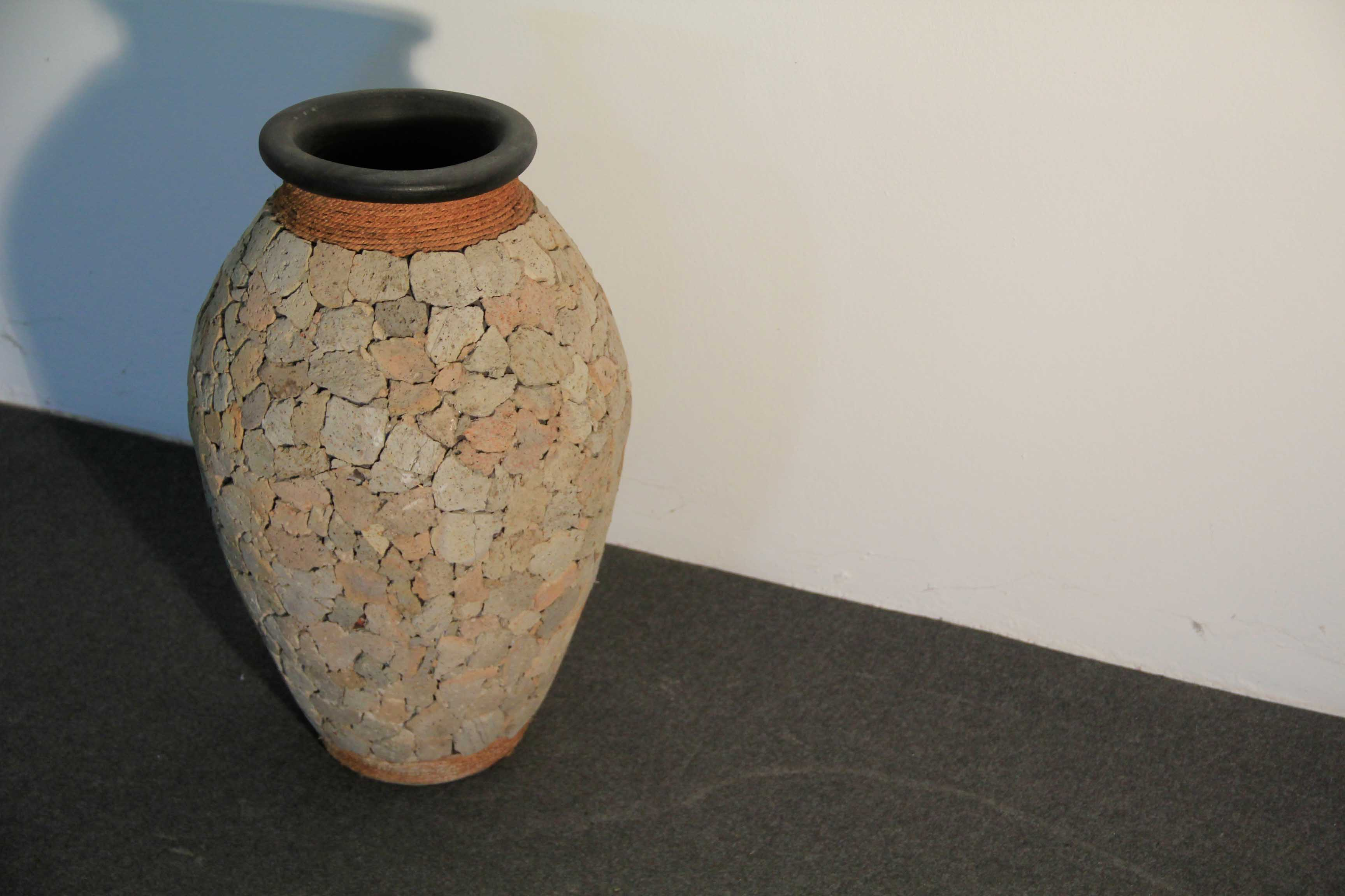vaso in terracotta rivestito