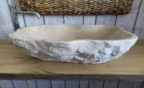 Lavello in marmo crema da bagno
