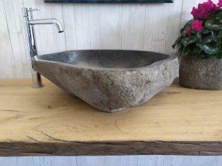 lavamani in sasso grigio