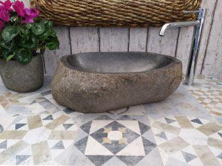 lavandino da bagno in pietra river